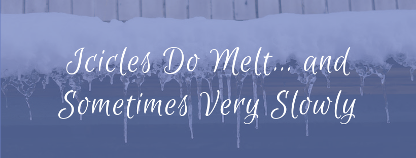 Icicles Do Melt… and Sometimes Very Slowly