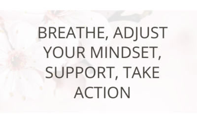 Breathe, Adjust Your Mindset, Support, Take Action